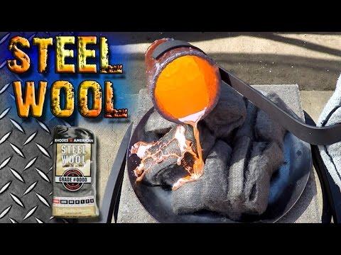 Molten Copper vs Steel Wool
