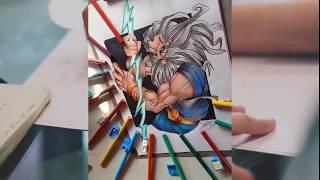 Dibujando Dios Zeus | Speed Draw | Ilustration Venezuela | How To Draw Zeus