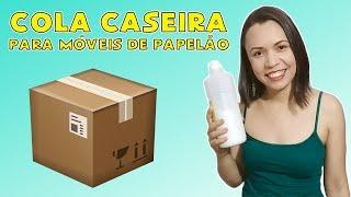 DIY Cola Caseira para móveis de PAPELÃO   Polly Peçanha