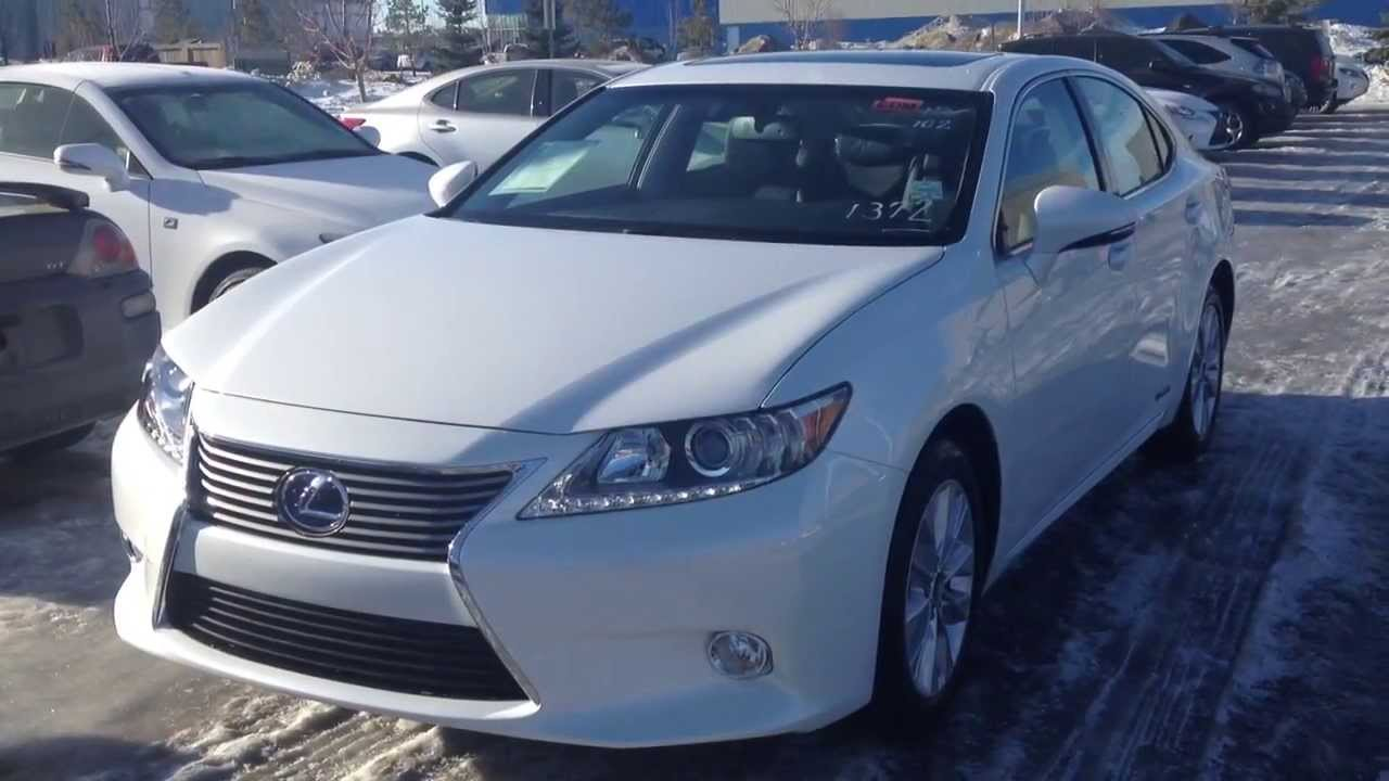2014 lexus es 300h in white starfire pearl premium package. Black Bedroom Furniture Sets. Home Design Ideas