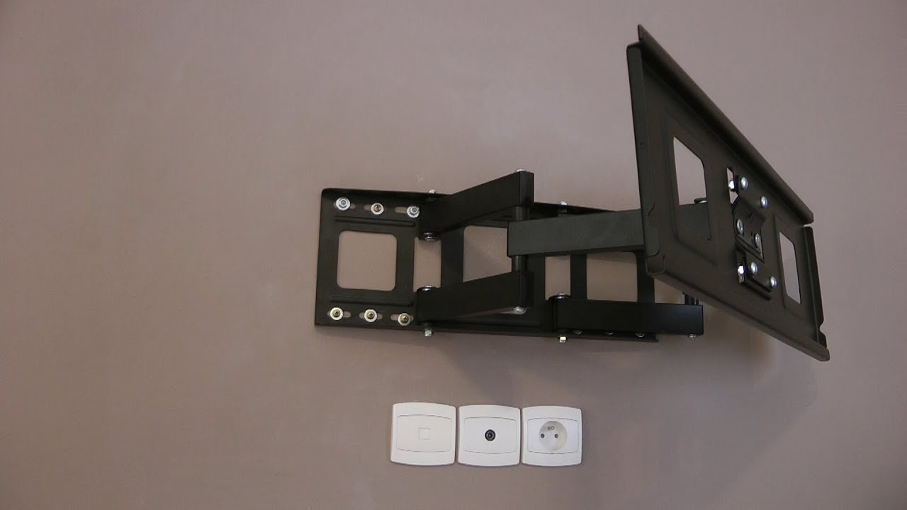 Installation d 39 un support mural tv tec take brique platri re scellemen - Comment faire un bras articule ...