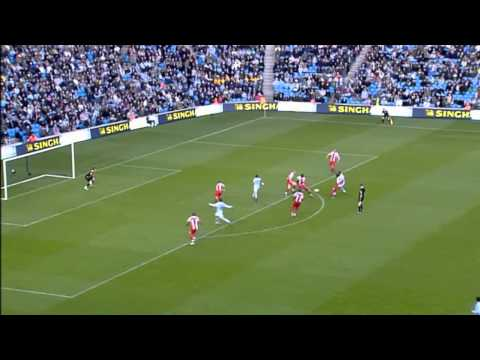 Man City 3-0 Stoke - Robinho Hat-trick [HD]