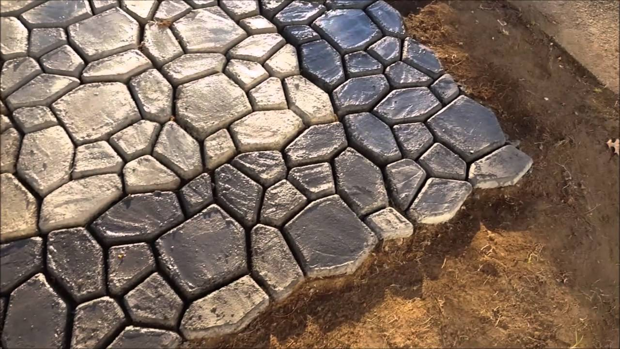 Make a paver, cobblestone or brick walkway or patio with ...