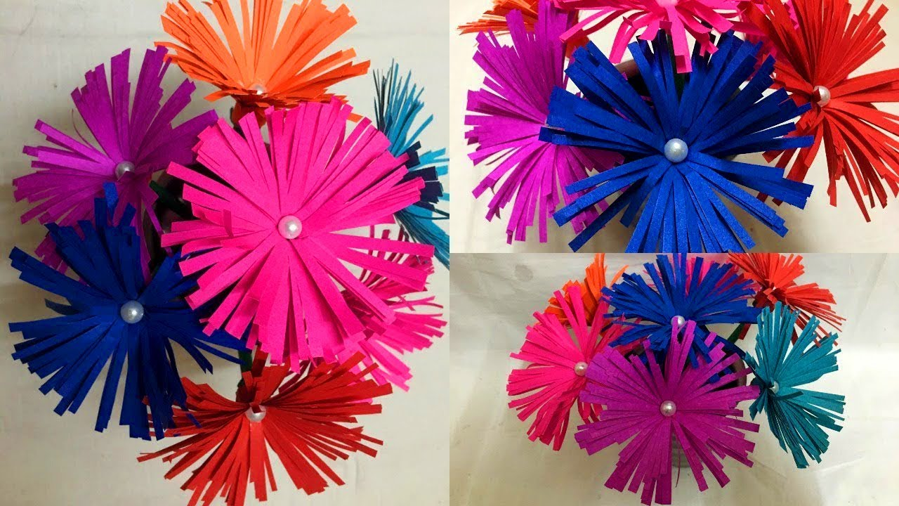 How To Make Paper Flowers Easy Step By Step Origami Crafts For Kids