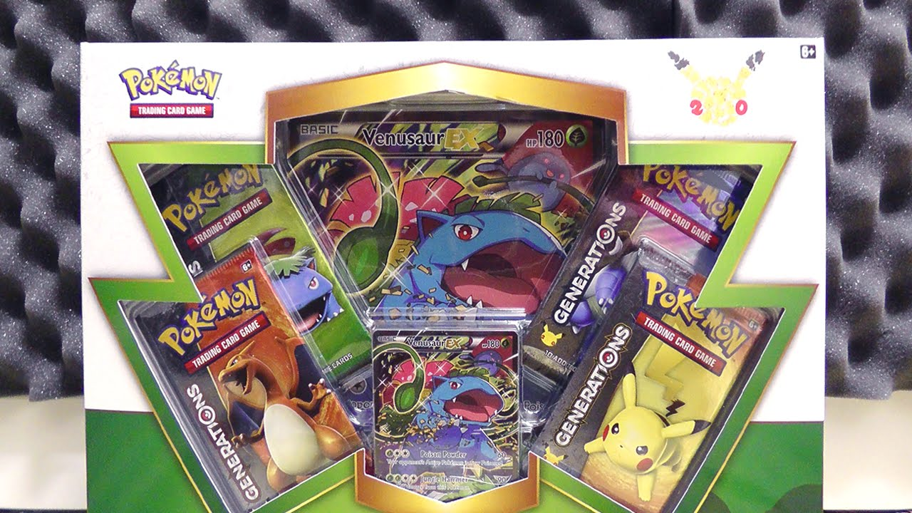 Pokemon Cards Venusaur Ex Box