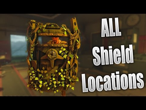 Black Ops 3 Zombies: All Part Locations! BEST How To Build ZOMBIE SHIELD Zetsubou No Shima!