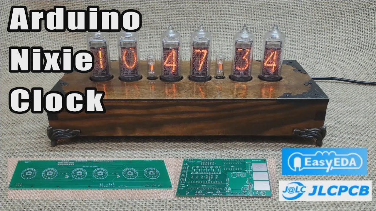 Building Arduino In 14 Nixie Clock Pcb Designed Using Easyeda And Schematic Tube Diy Circuit This Build By Jlcpcb