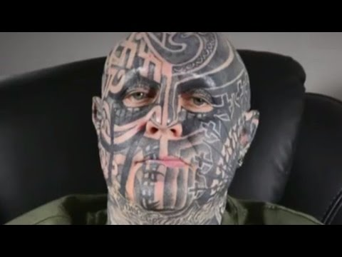 Man Covers Whole Body With Tattoo