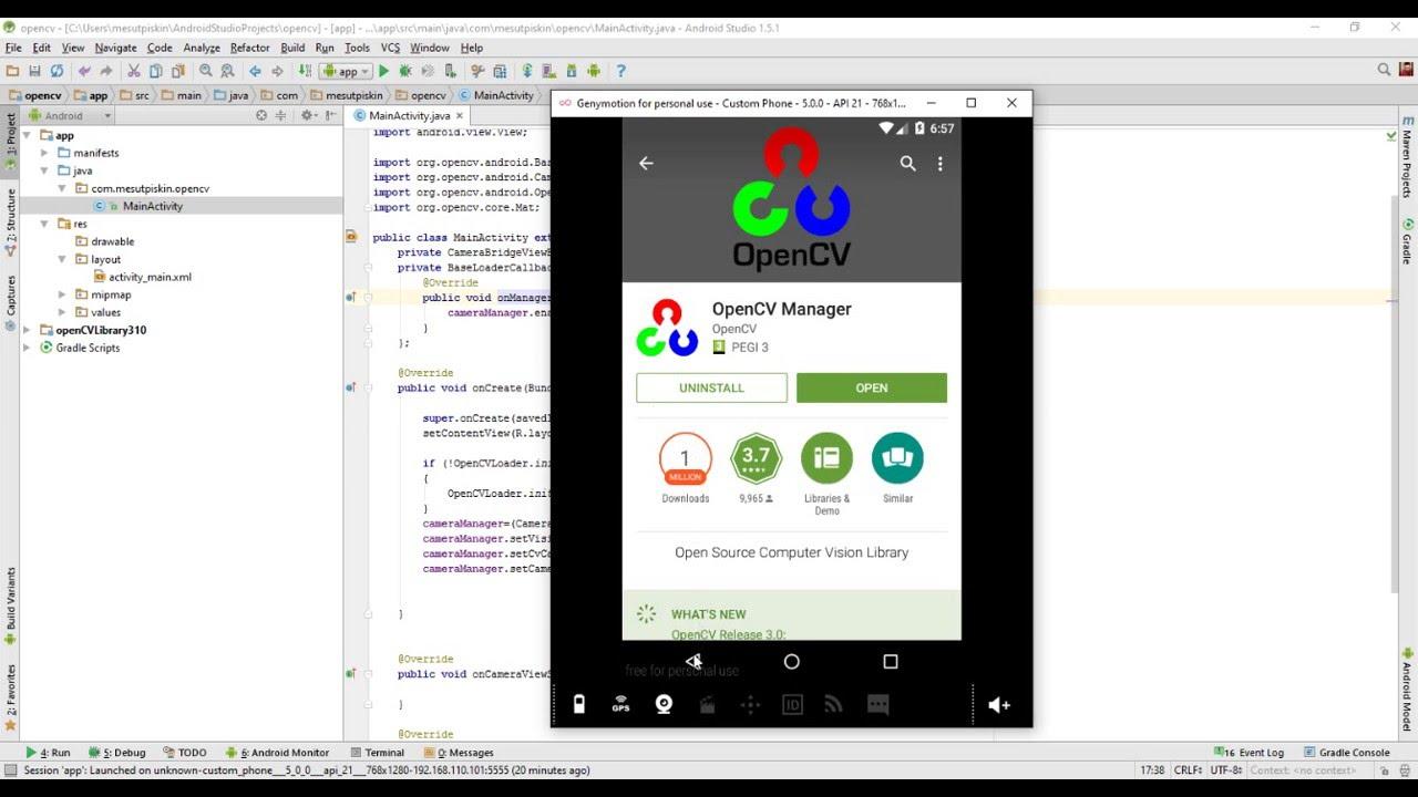 12 - OpenCV Android kamera kullanımı (Camera View)