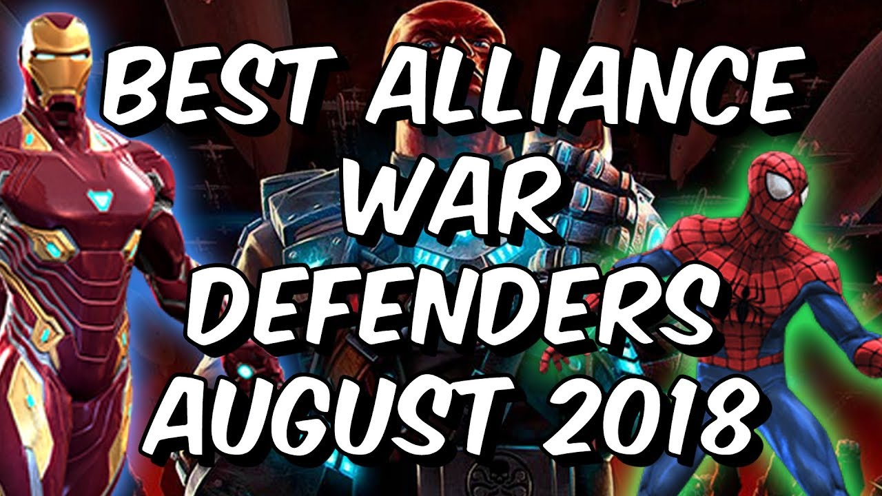 Marvel Contest Of Champions Best Characters 2020 Best Alliance War Defenders August 2018   Seatin's Tier List