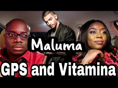 Maluma - GPS and Vitamina AUDIO REACTION  Couple Reacts
