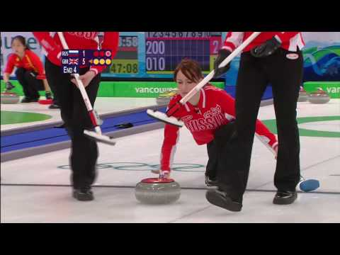 Curling Women RUS vs GBR Complete Event | Vancouver 2010