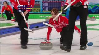 Curling Women RUS vs GBR Complete Event   Vancouver 2010