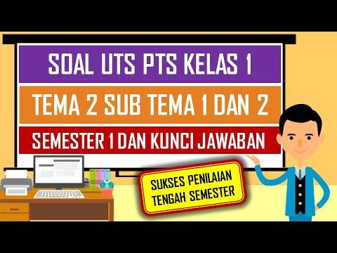 Soal Uts Pts Kelas 1 Tema 2 Sub Tema 1 Dan 2 Semester 1 Dan Kunci Jawaban Youtube