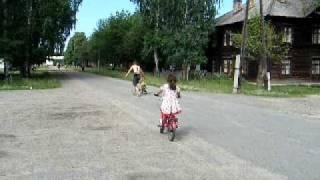 Обучение детей катанию на велосипеде. ч. 1