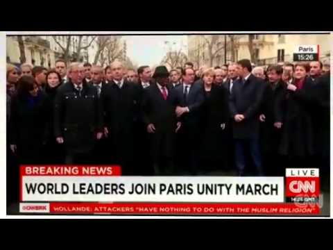 cnn news   ISIS   today   World leaders walk in 'unity rally' in France   YouTube