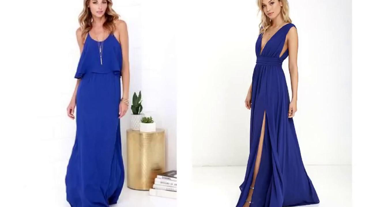 Royal Blue Casual Maxi Dress Youtube