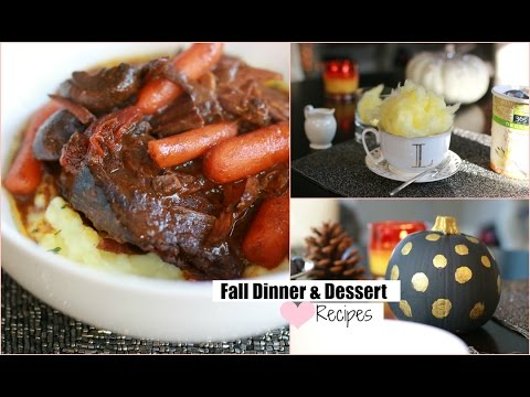Easy Fall Dinner , Crockpot Dinner  Dessert And Fall Drink Recipe - Pot Roast Recipe MissLizHeart