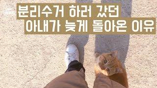 분리수거 하러 갔던 아내가 늦게 돌아온 이유 (feat. 고양이 버찌) / 째폴보&프렌즈