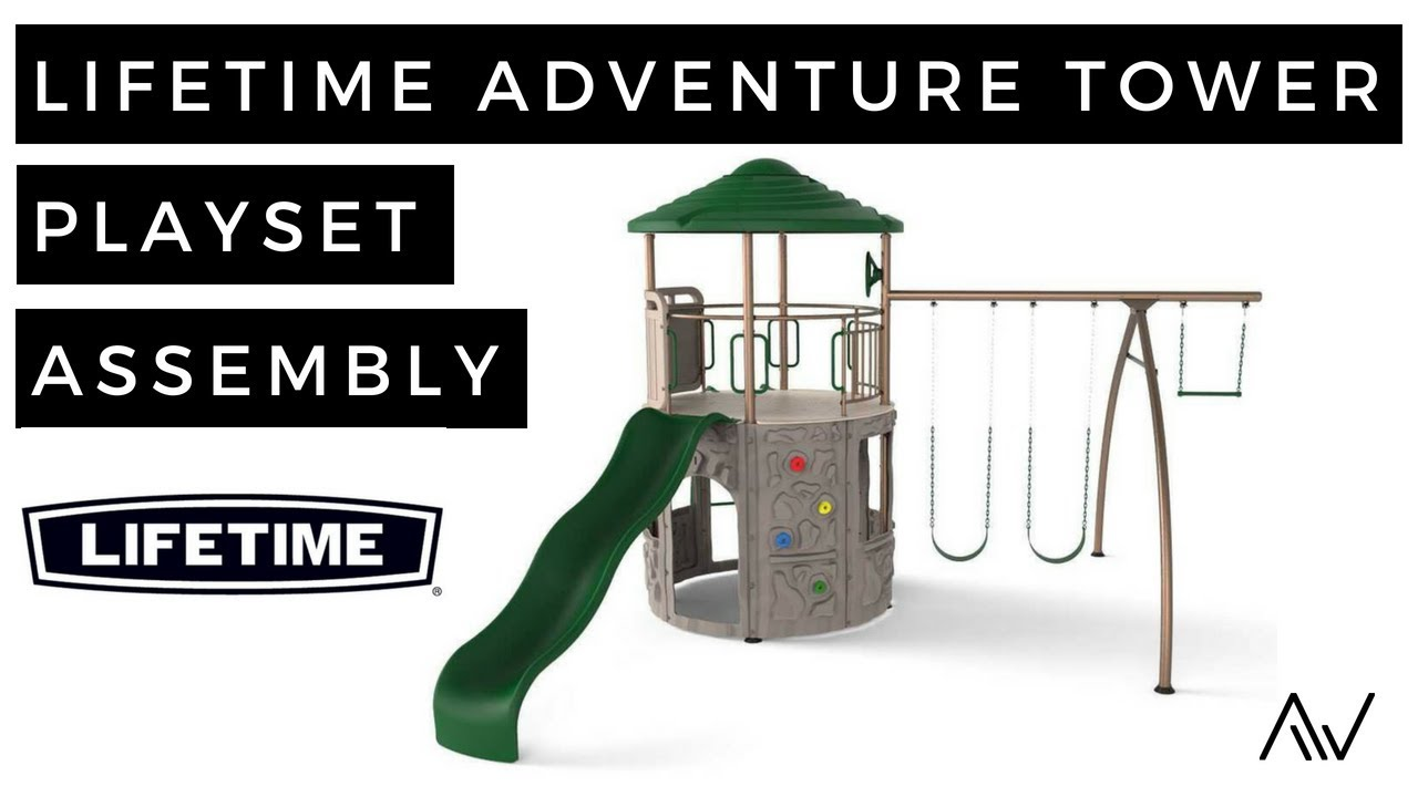 Lifetime Adventure Tower Playset Assembly Youtube
