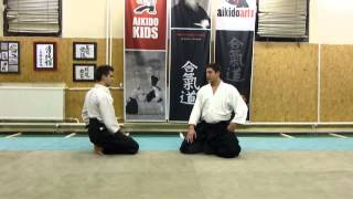 suwari waza shomenuchi ikkyo ura [TUTORIAL] Aikido basic technique