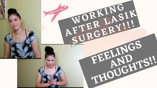 RETURNING TO WORK AFTER LASIK SURGERY!!! TWO WEEKS UPDATE!!
