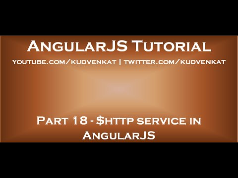 $http Service In AngularJS