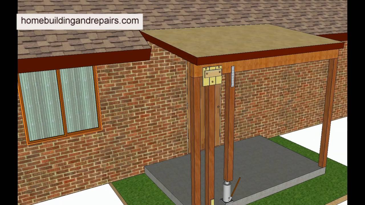 support post attachment tips used for replacing wood patio posts