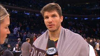 Kyle Korver Postgame Interview / Cavaliers vs Knicks / Nov 13