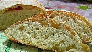 Чиабатта (ciabatta) Простой рецепт итальянского хлеба без замеса