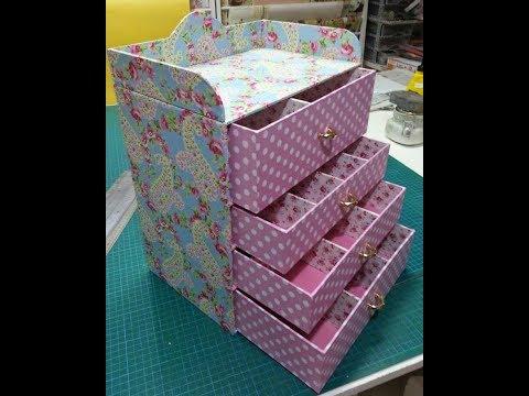 DIY Makeup And jewelry Oragnizer  Using Cardboard 💄👑