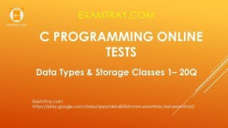 C Programming Data Types and Storage Classes Online Test 1 [ Interview Questions ]
