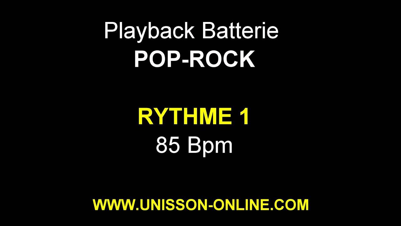 Drum Backing Track I Pop-Rock I Rythme 1 - 85 Bpm I Playback batterie