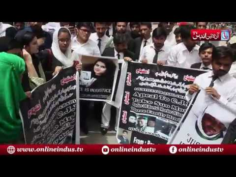 Hyderabad : Young Lawyer Forum holds protest for justice with Umm-e-Rubab's Family