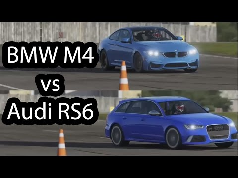 2015 BMW M4 vs 2016 Audi RS6 Top Gear