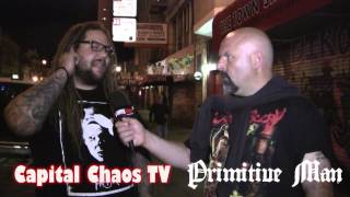 Primitive Man (Interview) 8/04/2014 in San Francisco on CAPITAL CHAOS TV