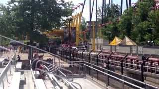 My friend on the Top Thrill Dragster for the first time. Ignore the first one. Hes on the second one