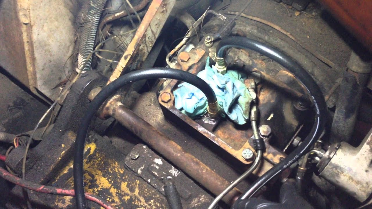 Hyster H40 Forklift Inching Valve Repair and Pressure Check on