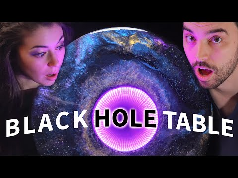 DIY Black Hole Table (infinity Mirror + Galaxy Resin!)