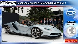 American investor bought Lamborghini for $115, invested in a cryptocurrency