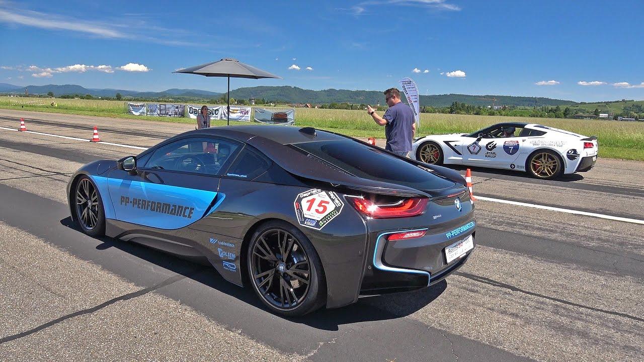BMW i8 PP Performance (400HP) vs Corvette C7 (487HP)