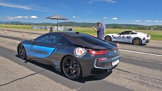 BMW i8 PP Performance (400HP) vs Corvette C7 (487HP)