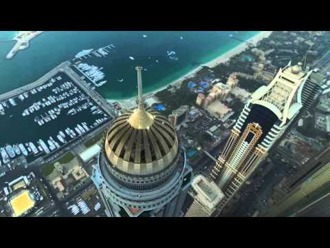 Dubai Marina JBR. DJI Phantom 3 Professional. С высоты полета птицы.