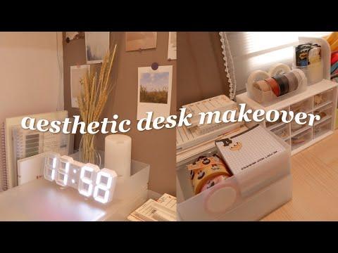 🍃aesthetic desk makeover