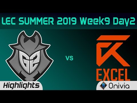 G2 vs XL Highlights LEC Summer 2019 W9D2 G2 Esports vs Excel Esports LEC Highlights By Onivia