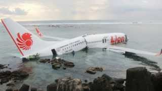 Indonesia Airline Crash - Lion Air Boeing 737 Accident Into Sea Island Of Bali