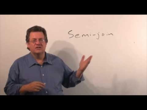 UHCL 15a Graduate Database Course - Relational Algebra - Semijoin