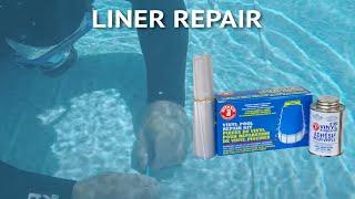 How to Fix a Hole in Vinyl Pool Liner Underwater Repair