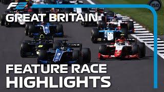 F2 Feature Race Highlights | 2021 British Grand Pr