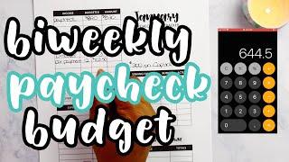 BIWEEKLY BUDGET PAYCHECK TO PAYCHECK   Jan 3, 2020   single low income + Budget Planner Worksheet